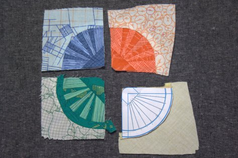 carolyn friedlander cyclic mini mini quilt progress