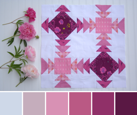 peony geese crossing color palette