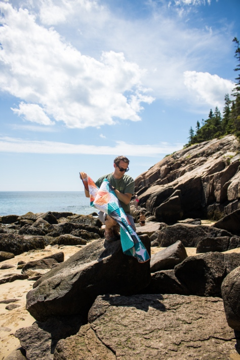 quilter's planner photography outtake karen lewis quilt acadia maine