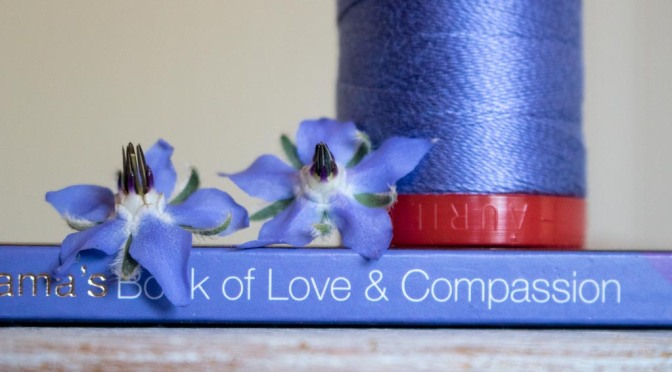 dusty blue violet color collection aurifil