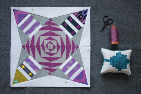 foundation paper pieced block from constant flux andover tutorial