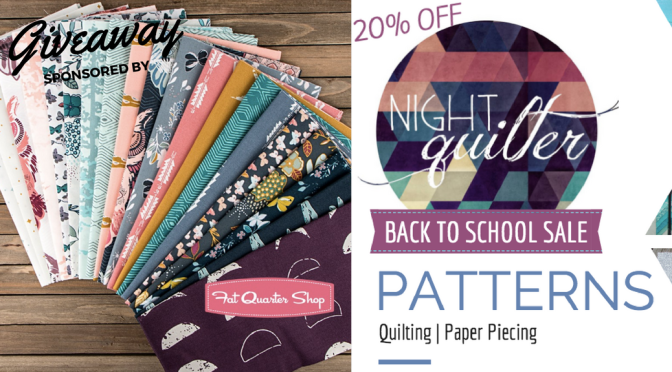 Friday Giveaway & Back to School Pattern Sale