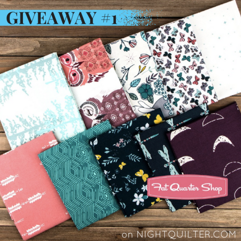 Giveaway #1 Nightfall fabric by maureen cracknell for art gallery fabrics fat quarter shop
