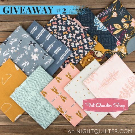 Giveaway #2 Nightfall fabric by maureen cracknell for art gallery fabrics fat quarter shop