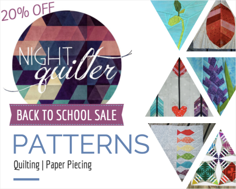night quilter back to school sale patterns