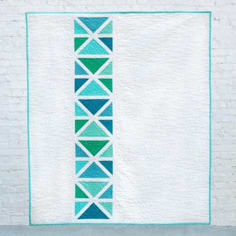 ocean path quilt white brick quilt theory
