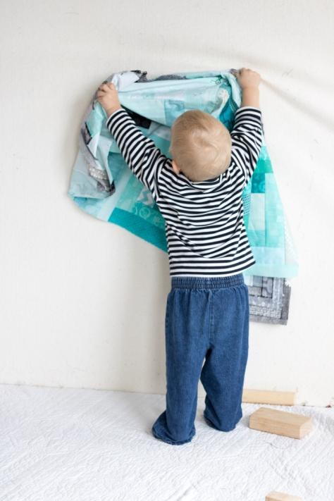 finn's milestone quilt flimsy finish 18 months
