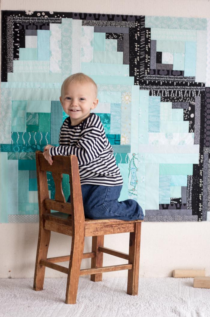 finn milestone quilt 18 months