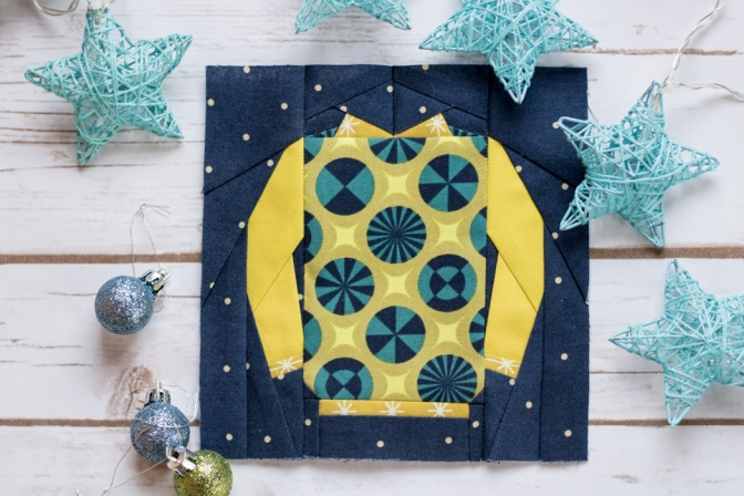 Not-So-Ugly Christmas Sweater Block Sew Along with Kid Giddy