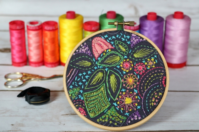 Stitched Embroidery Hoop Finish