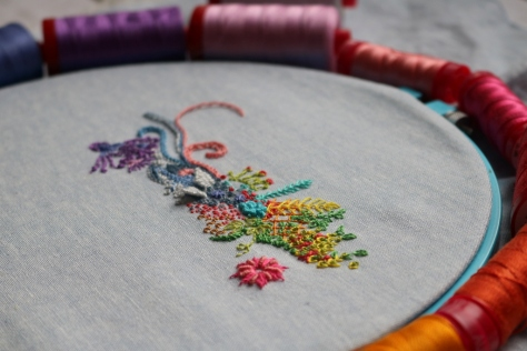 1 year of stitches embroidery month 1
