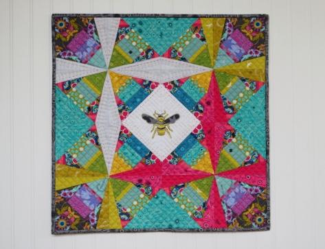 alison glass constant flux mini quilt for andover