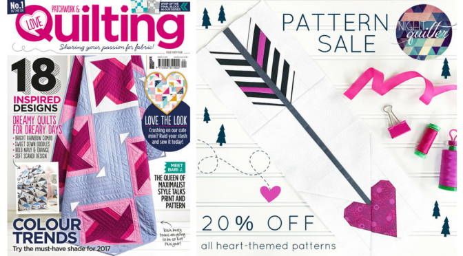 Love Patchwork & Quilting Feature and a Pattern Sale