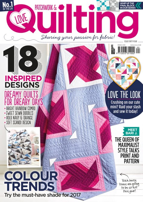 love patchwork and quilting 44 cover girl