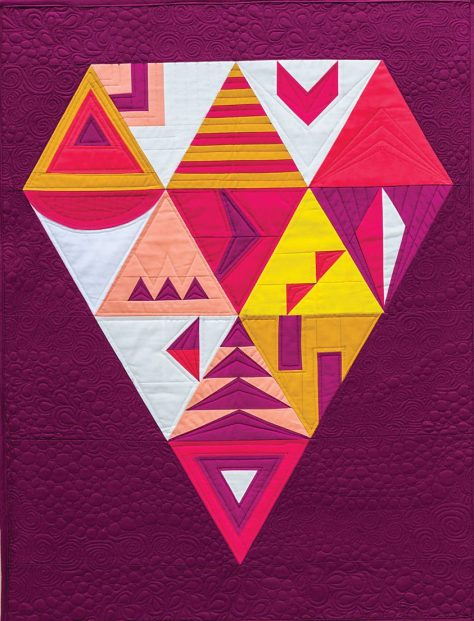 facets from modern triangle quilts by rebecca bryan