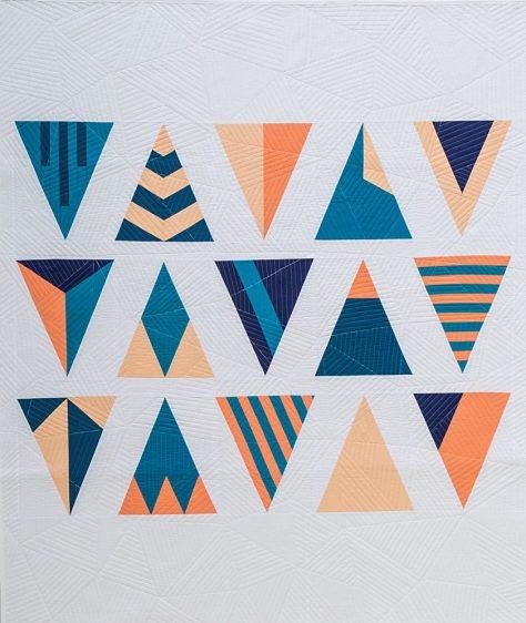 modern triangle quilts rebecca bryan