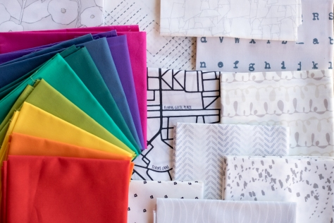lower the volume capsule art gallery fabrics with rainbow of pure elements solids