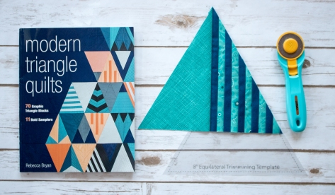modern triangle quilts blog hop rebecca bryan