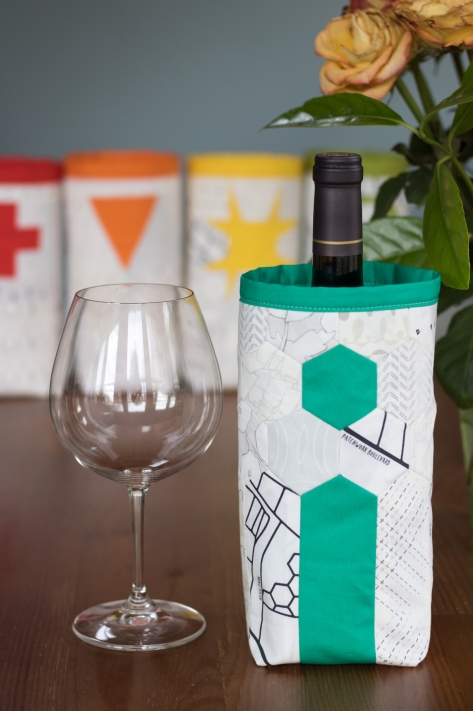 Fabric skinny bin AGF lower the volume capsule wine cozy