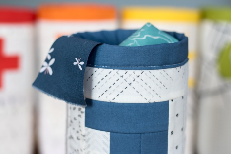 Fabric skinny bin AGF lower the volume capsule scraps