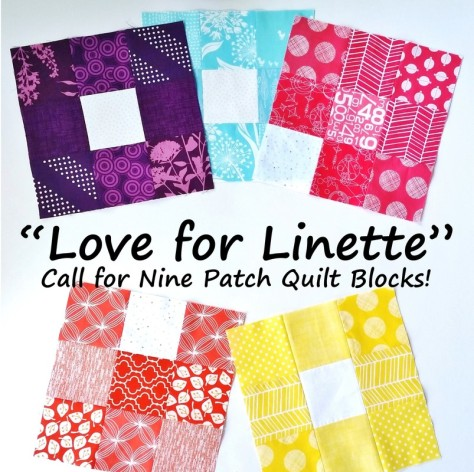 love for linette call for nine patch quilt blocks