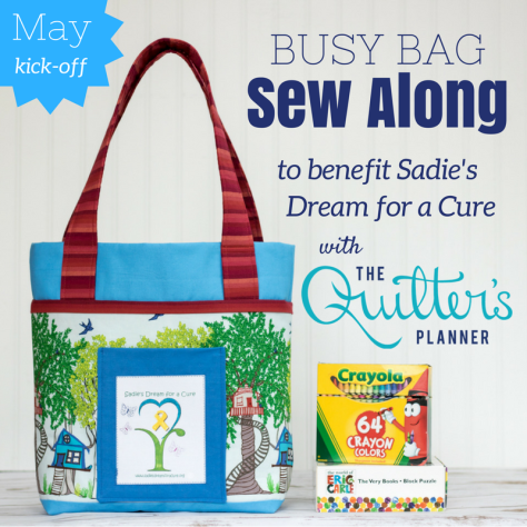 Sadie's Dream Sew Along quilters planner busy bag charity sewing