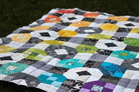 rainbow eye spy picnic plaid quilt flimsy finish