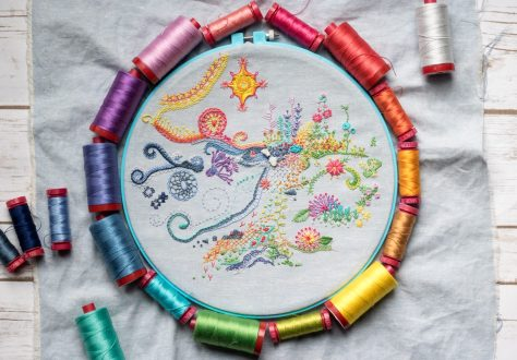 may 1 year of stitches embroidery freestyle aurifil thread