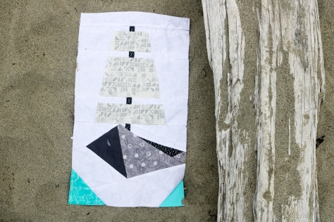 tall ship quilt block