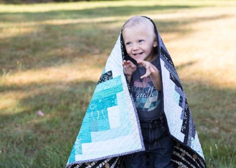 Finn's Milestone quilt finish