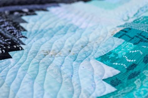 Finn's Milestone quilt finish freemotion quilting aurifil thread