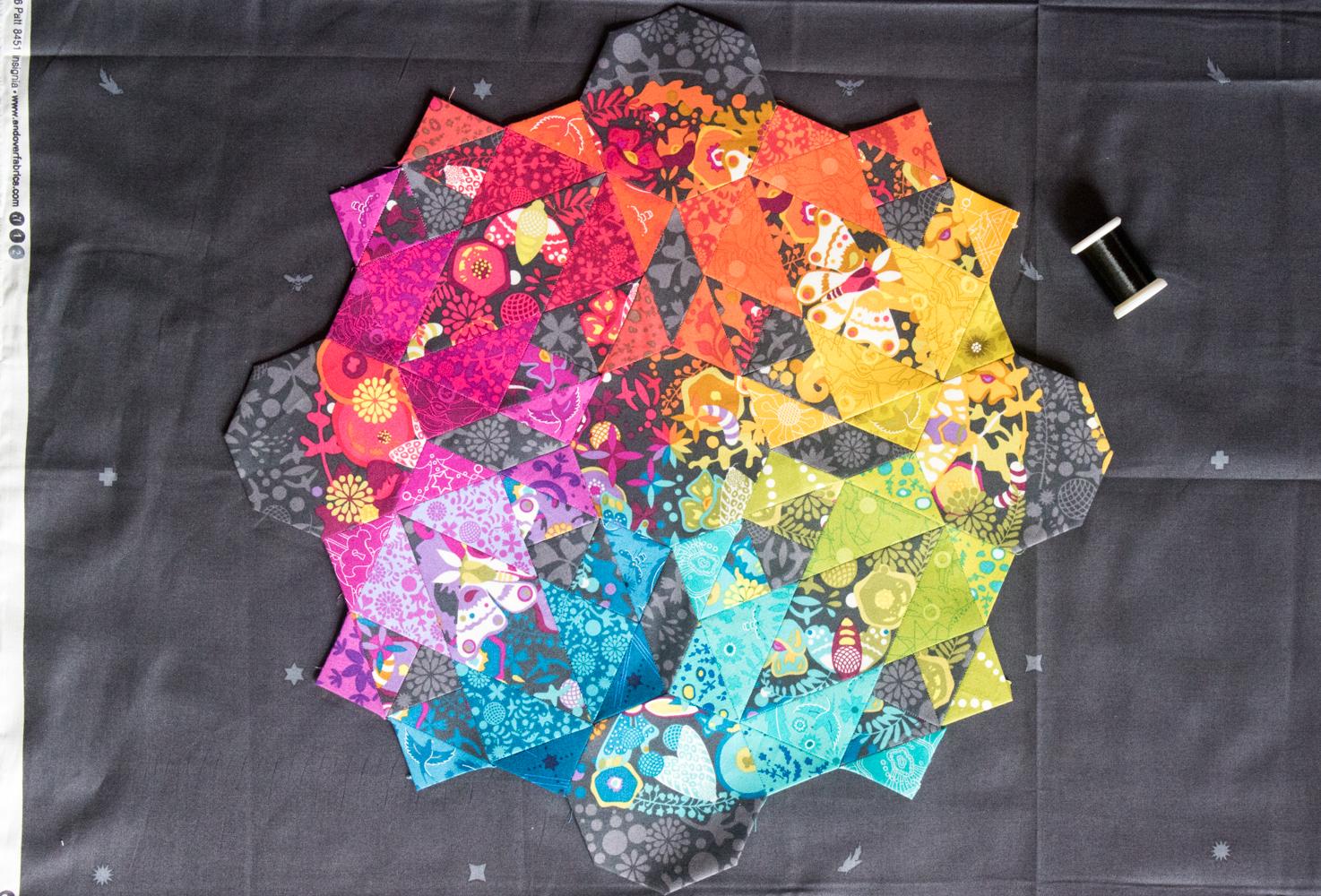 alison glass rainbow moonstone giucy giuce epp pattern