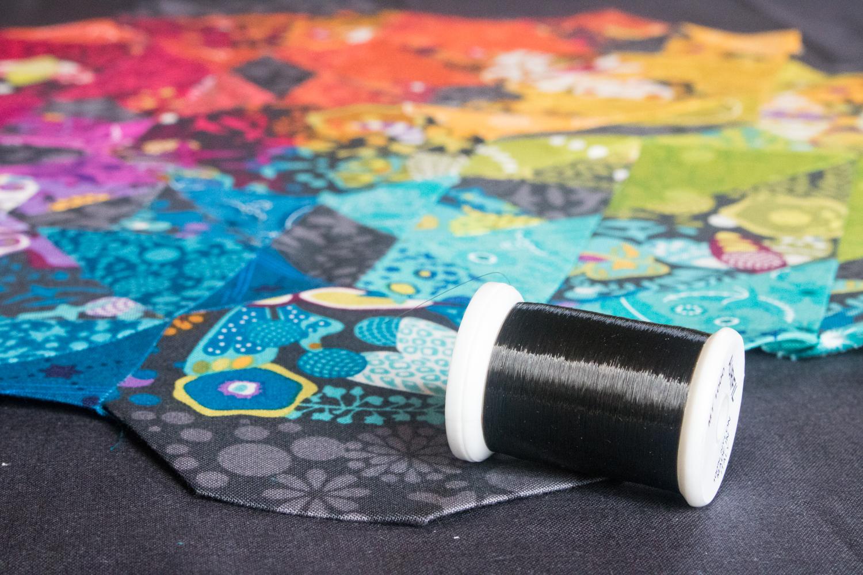 alison glass rainbow moonstone quilt giucy giuce pattern aurifil monofilament thread