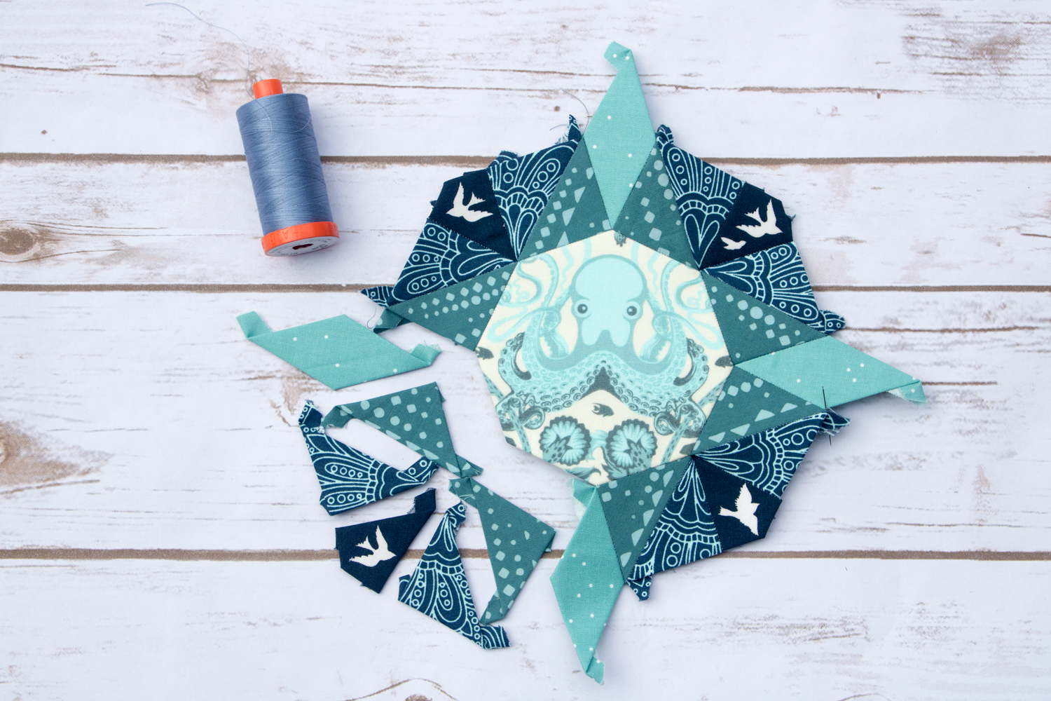 moonstone quilt ocean theme tula pink giucy giuce pattern aurifil