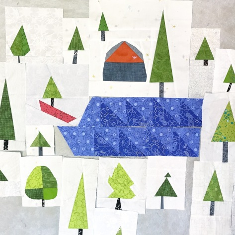 summer adventure quilt Adirondack camping trip addition