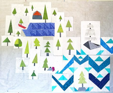 summer adventure quilt progress