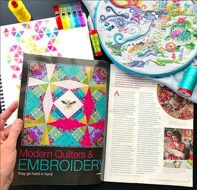 Embroidery & Modern Quilting Feature