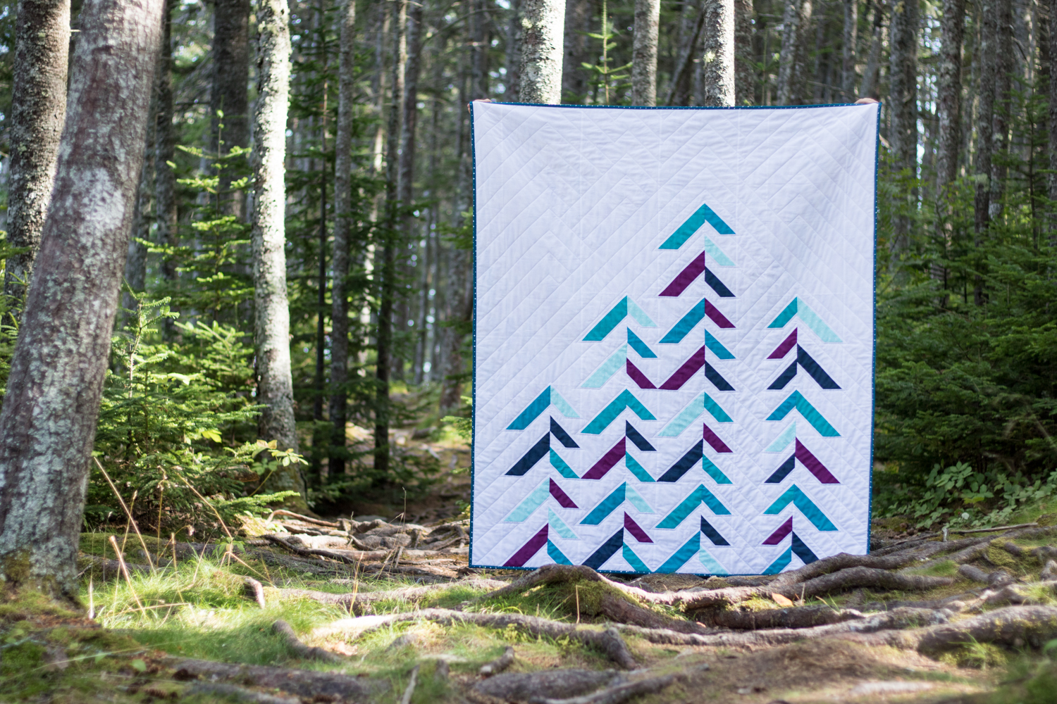into the forest quilt theory pattern cloud9 organic fabrics aurifil
