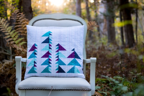 Glade Pillow pattern Into the Forest Quilt Theory bonus pattern