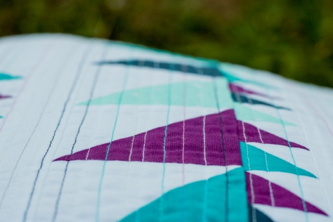 dense quilting with aurifil thread glade pillow