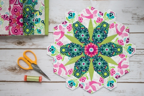 flowermania epp flit and bloom fabric fussy cutting