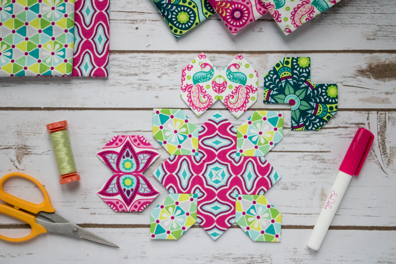 flit and bloom fabrics lucy boston patchwork of the crosses epp