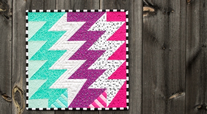 Panache Mini Quilt Finish: Superbolt!