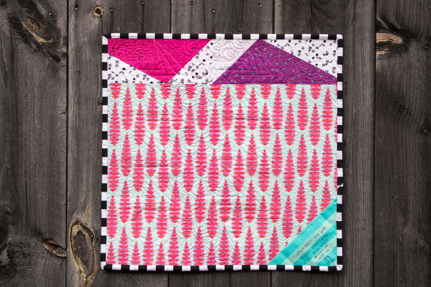 superbolt mini quilt backing