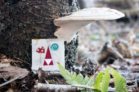 tiny tomte foundation paper pieced moss and lotus pattern