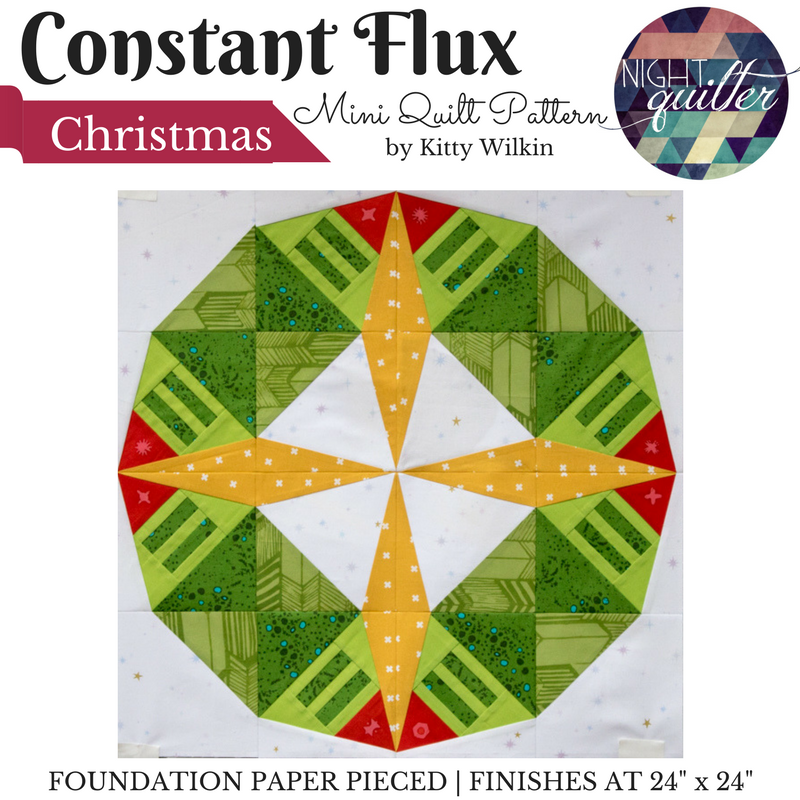 Constant Flux Cover--Christmas! foundation paper pieced pattern