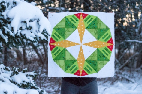 constant flux christmas foundation paper pieced pattern snowfall