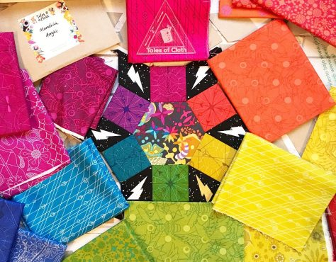 choosing fabrics alison glass rainbow epp mandolin quilt