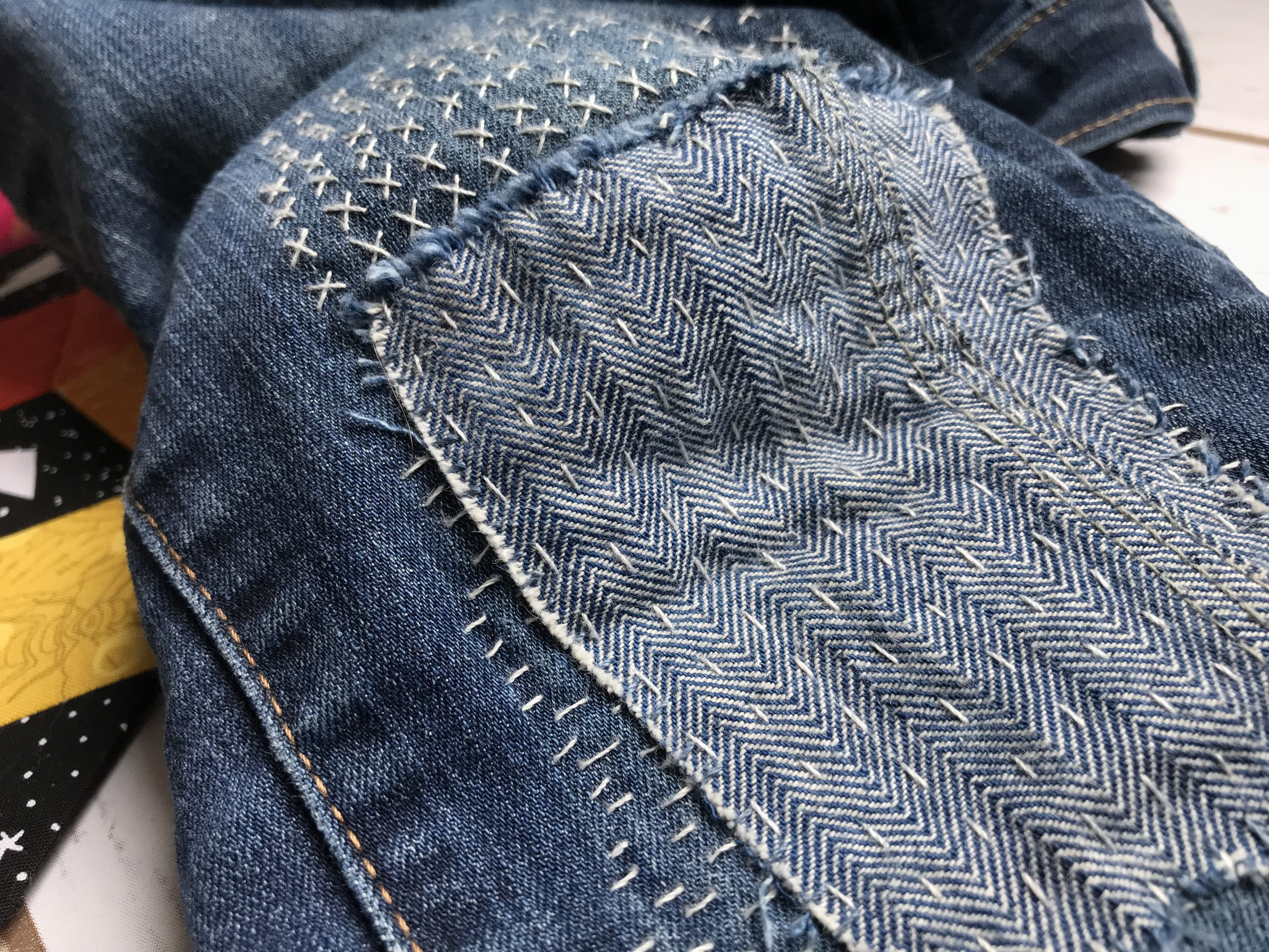 travel stitching visible mending