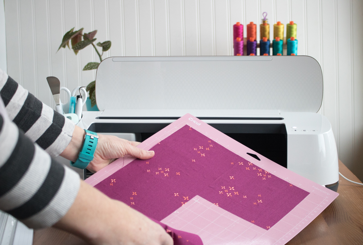 Cricut Maker in action cutting